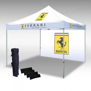 Custom advertising tent with wall