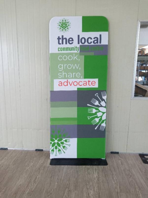 custom fabric display banner