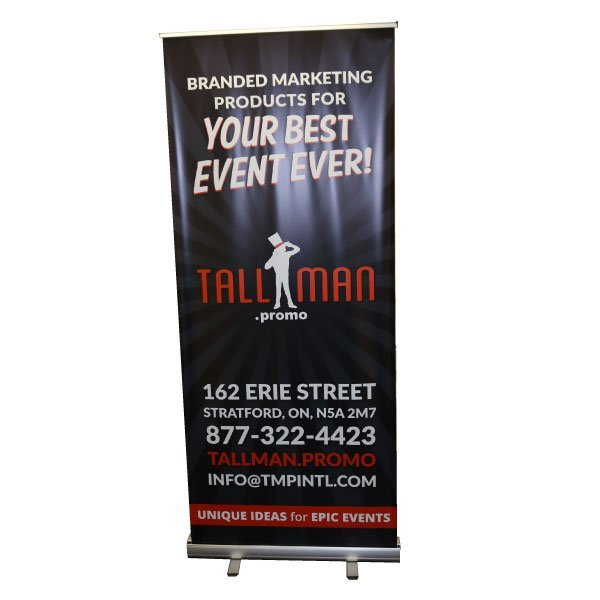 custom rollup tradeshow banner