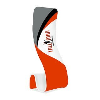 S shaped display stand