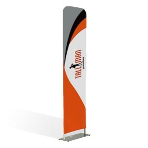 straight stand fabric display