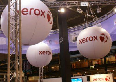 hanging helium balloons