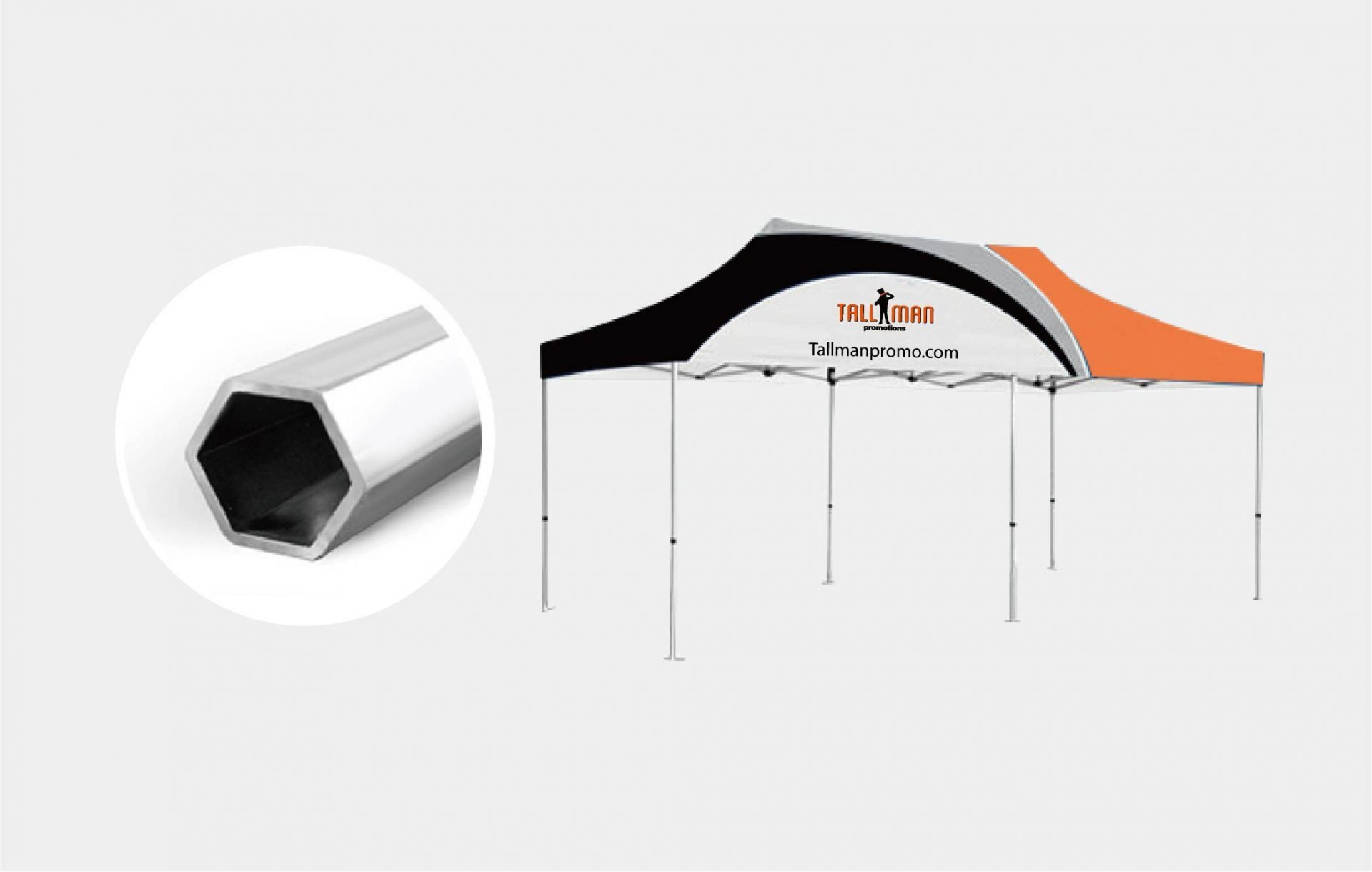 Instant Canopy 10ft x 10ft with hex frame
