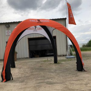 Inflatable canopy tent