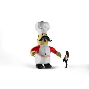 Inlatable chef character