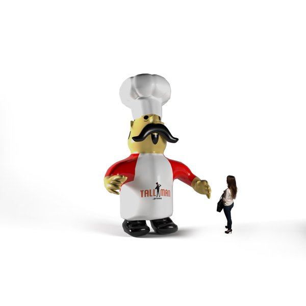 Inlatable chef character
